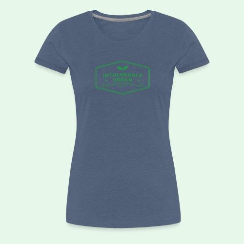 Intolerable Vegan Logo - Green - Premium-T-shirt dam