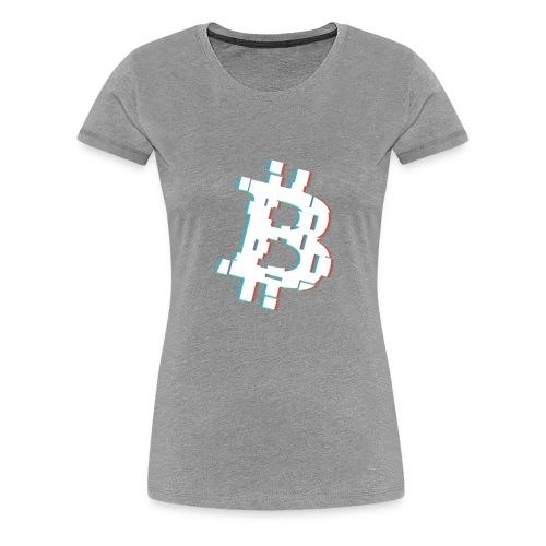 Glitched Bitcoin - Women's Premium T-Shirt