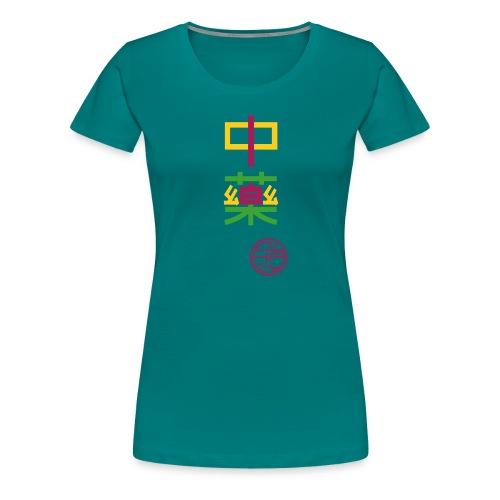 Chinesiche Arznei 3-farbig - Frauen Premium T-Shirt