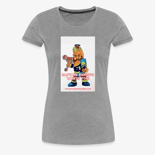 Captain Burrito - Women's Premium T-Shirt