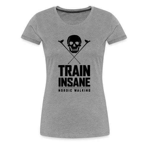 Nordic Walking - Skull - Naisten premium t-paita