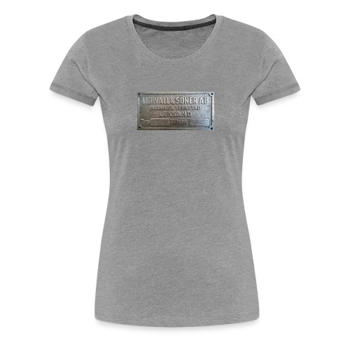 Tillverkningsskylt före 1967 - Premium-T-shirt dam