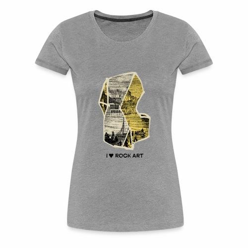 I LOVE ROCK ART No 2 colour - Vrouwen Premium T-shirt