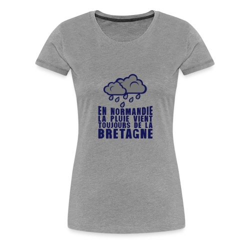 en normadie pluie vient bretagne nuage - T-shirt Premium Femme