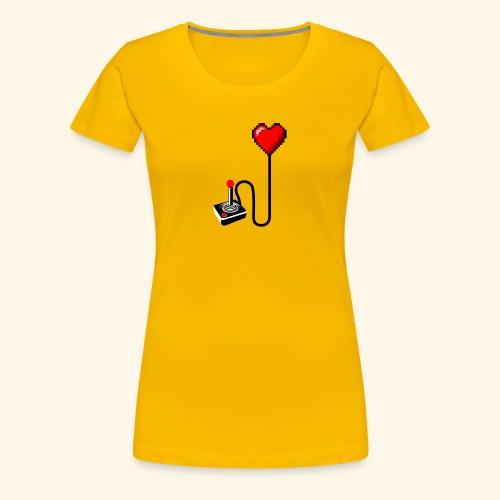 Retro Heart - Maglietta Premium da donna