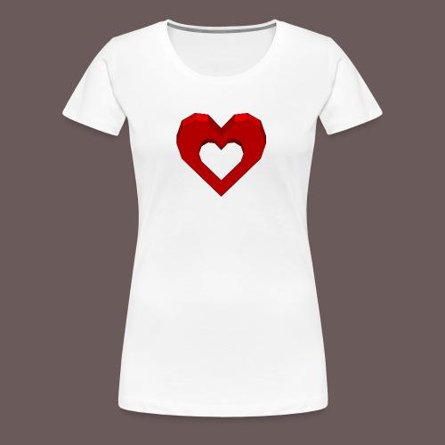Heart Illusion - Dame premium T-shirt