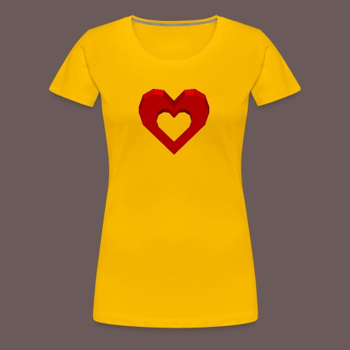 Heart Illusion - Dame premium T-shirt