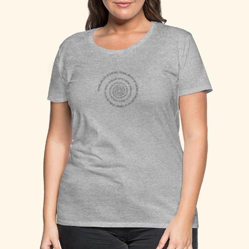 SPIRAL TEXT LOGO BLACK IMPRINT - Women's Premium T-Shirt