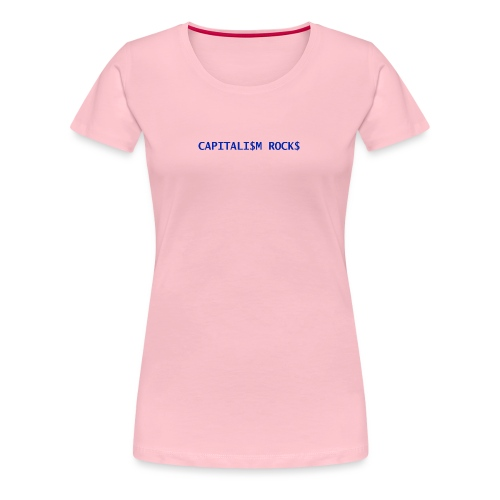CAPITALISM ROCKS - Maglietta Premium da donna