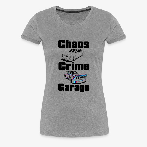 chaos crime garage - Maglietta Premium da donna