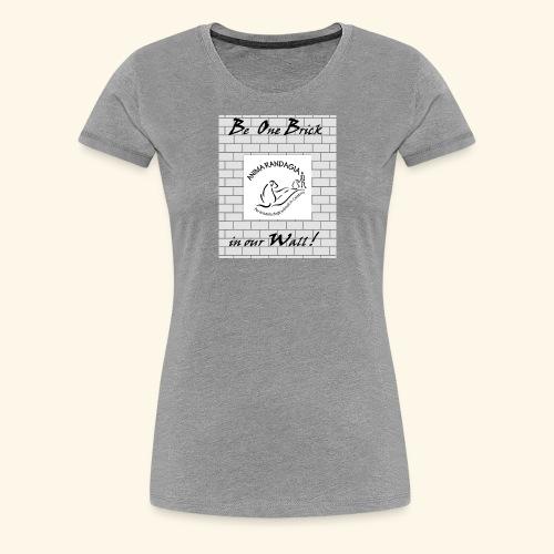 wall logo verticale - Maglietta Premium da donna