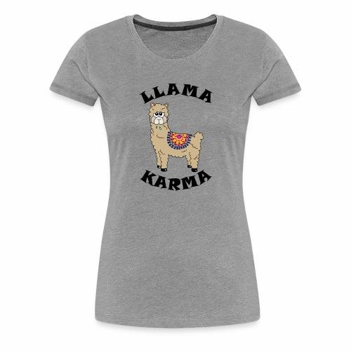 Llama Karma - Women's Premium T-Shirt