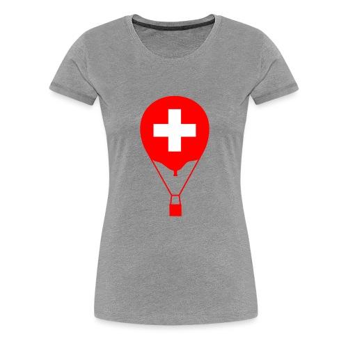 Gasballon im schweizer Design - Frauen Premium T-Shirt