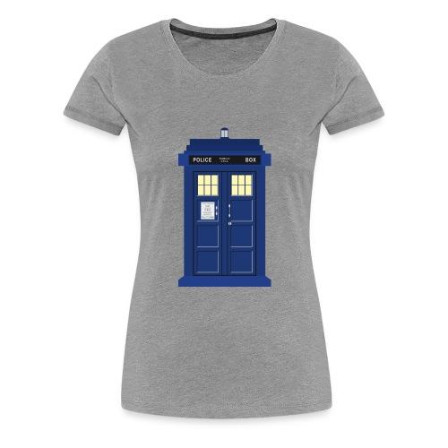 Tardis print Doctor Who - Women's Premium T-Shirt