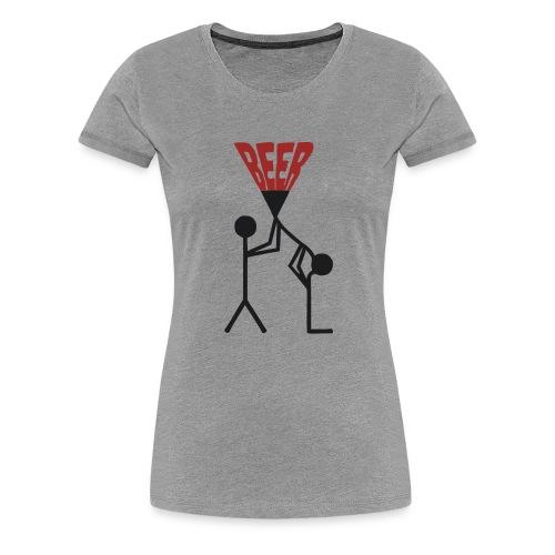 Bier Trichter - Frauen Premium T-Shirt