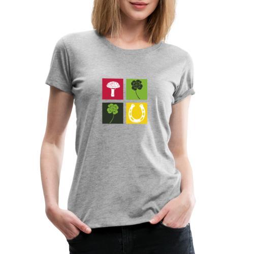 Just my luck Glück - Frauen Premium T-Shirt