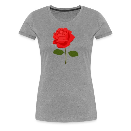 Red Rose - Vrouwen Premium T-shirt