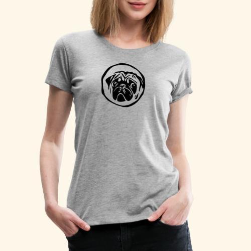 mops shirt weiß - Frauen Premium T-Shirt