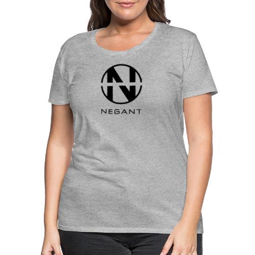Black Negant logo - Dame premium T-shirt