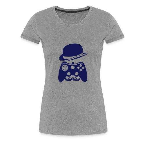 manette chapeau melon moustache personna - T-shirt Premium Femme