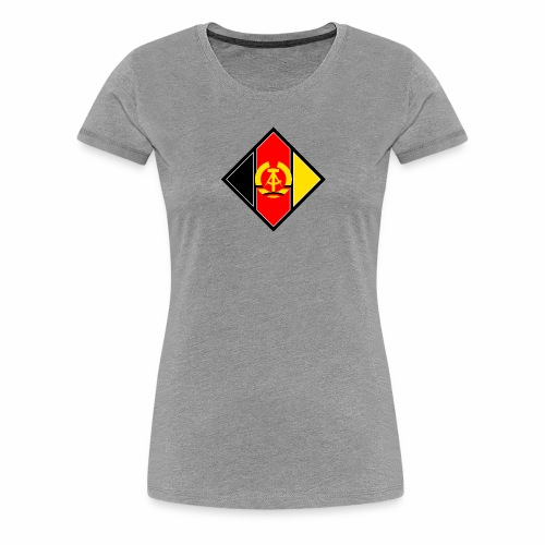 DDR coat of arms stylized - Women's Premium T-Shirt