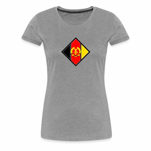 DDR coat of arms stylized - Women's Premium T-Shirt