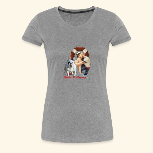 Pin Up marin bouledogue - T-shirt Premium Femme