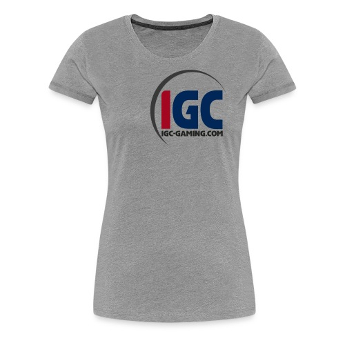 IGC Logo mit Website - Frauen Premium T-Shirt