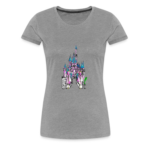 Fairy Tale Castle - Women's Premium T-Shirt