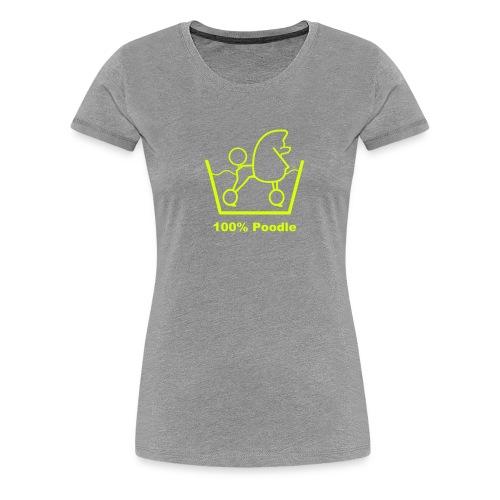 100 poodle - Women's Premium T-Shirt