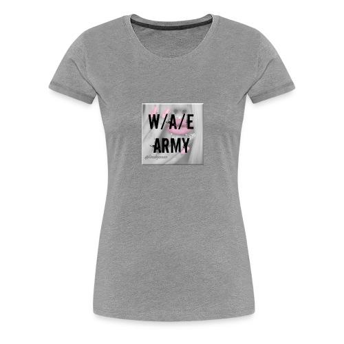 W/A/E ARMY GIRLY - Naisten premium t-paita