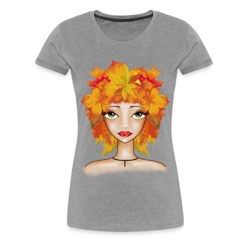 Muñeca Olga otoñal. - Camiseta premium mujer