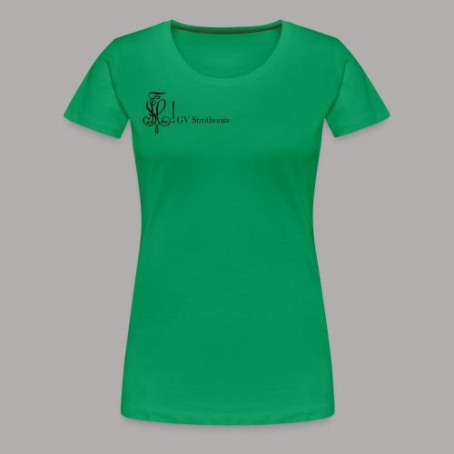Zirkel mit Name, schwarz (vorne) - Frauen Premium T-Shirt