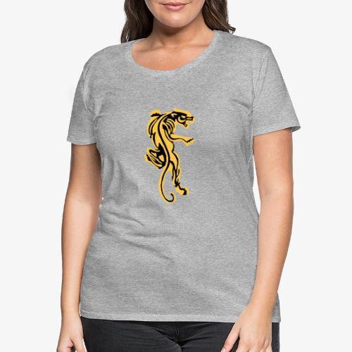 Tiger great cat design by patjila - Women's Premium T-Shirt