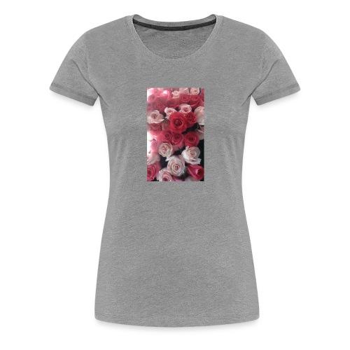 rosas - Camiseta premium mujer