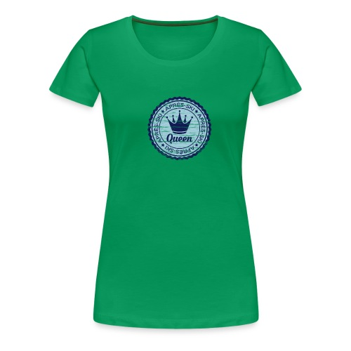 Apresski Queen Grunged Badge Shirt - Frauen Premium T-Shirt