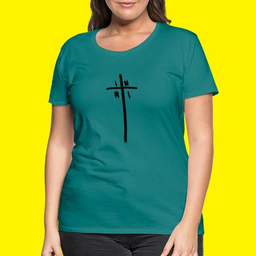Cross - INRI (Jesus of Nazareth King of Jews) - Women's Premium T-Shirt