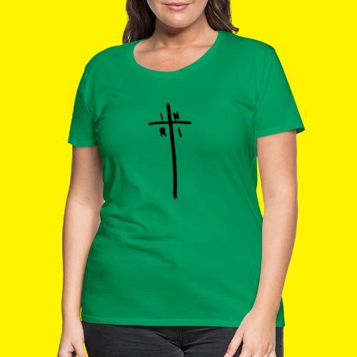 Cross - INRI (Jesus of Nazareth King of Jews) - Women's Premium T-Shirt