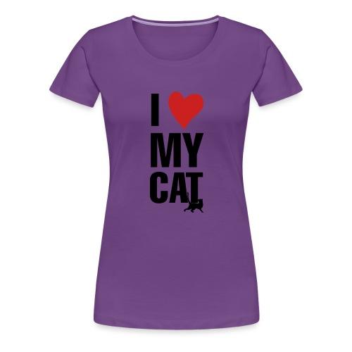 I_LOVE_MY_CAT-png - Camiseta premium mujer