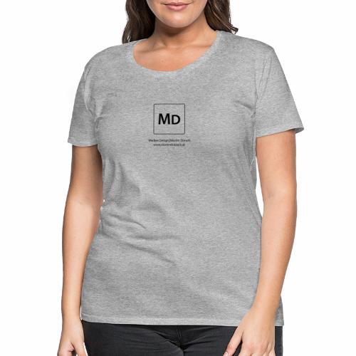 MD Logo - schwarz - Frauen Premium T-Shirt