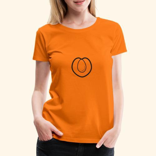 fruits and veggies icons peach 512 - Dame premium T-shirt