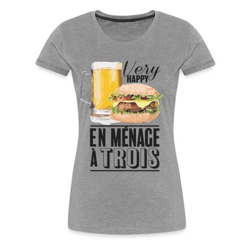Ménage à trois - T-shirt Premium Femme