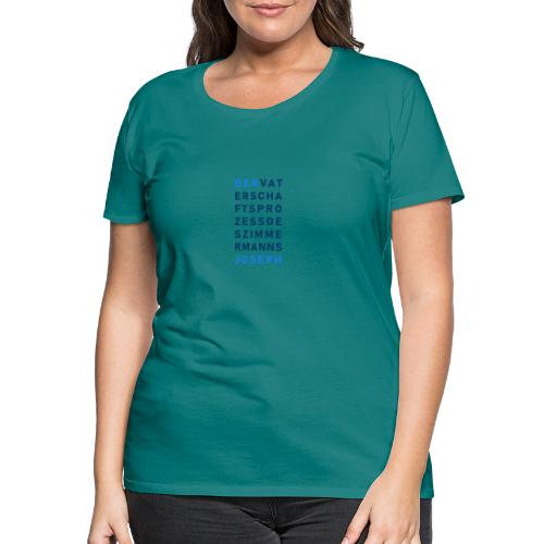 Zimmermann Joseph blau - Frauen Premium T-Shirt
