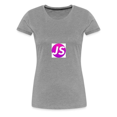 t shirt wit met logo - Vrouwen Premium T-shirt