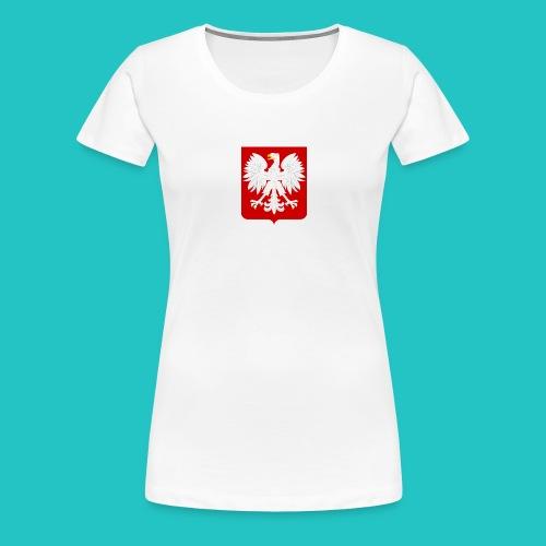 Koszulka z godłem Polski - Koszulka damska Premium
