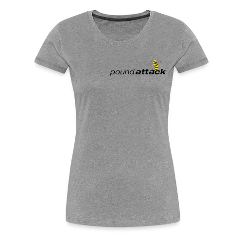logo poundattack freigestellt mit wespe groß png - Frauen Premium T-Shirt