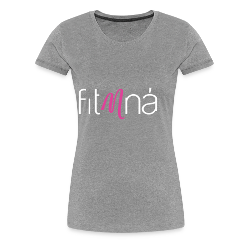 Fit Mná Logo Black Background - Women's Premium T-Shirt