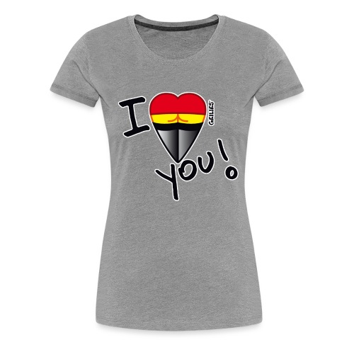 T-Shirt_I love_outline.png - Frauen Premium T-Shirt