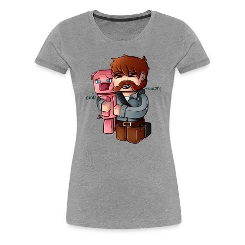 BaconNoBG png - Premium T-skjorte for kvinner