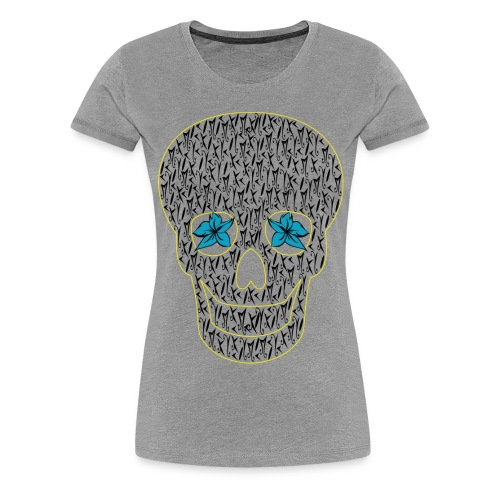 Blue Eyes Skull McKoy - Camiseta premium mujer